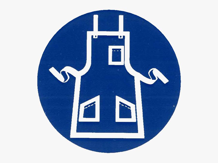 Transparent Bunsen Burner Clipart - Wear Apron Safety Sign, Transparent Clipart