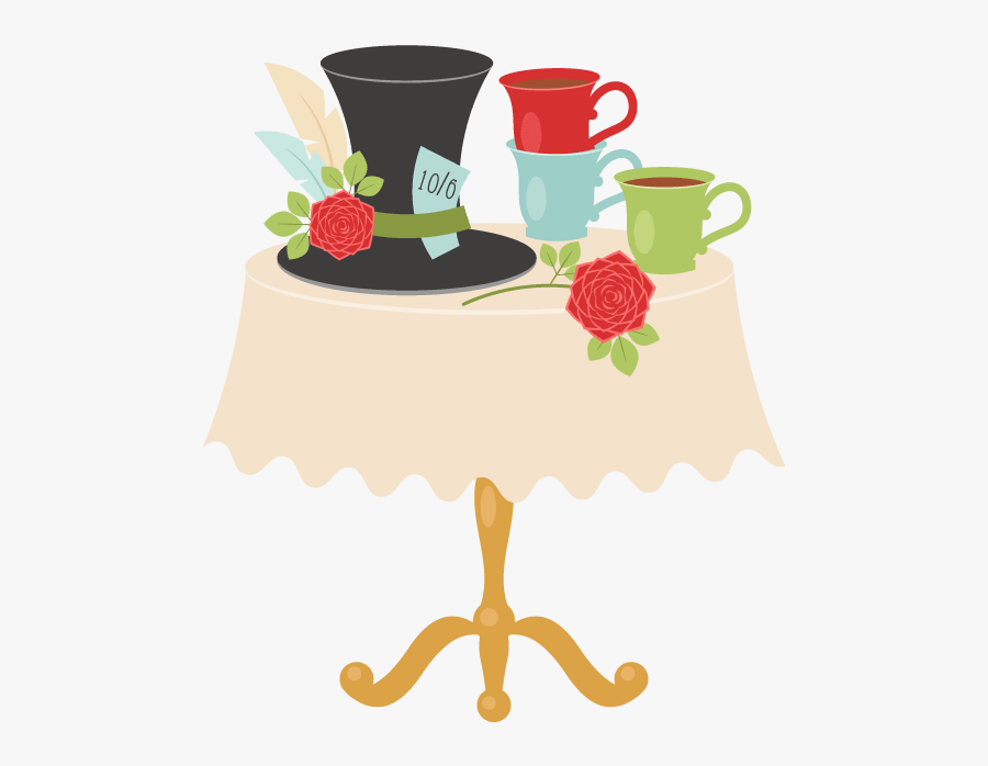 How To Create An Alice In Wonderland Tea Party Scene - Draw Tea Party Alice In Wonderland, Transparent Clipart