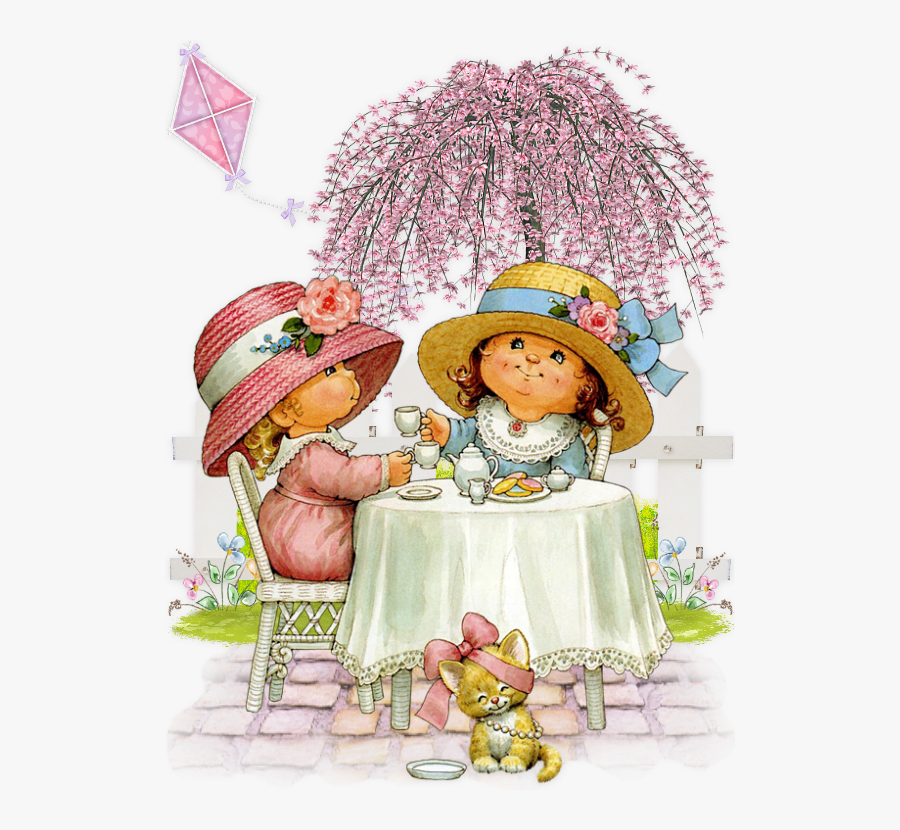 Kids Tea Party Clipart, Transparent Clipart