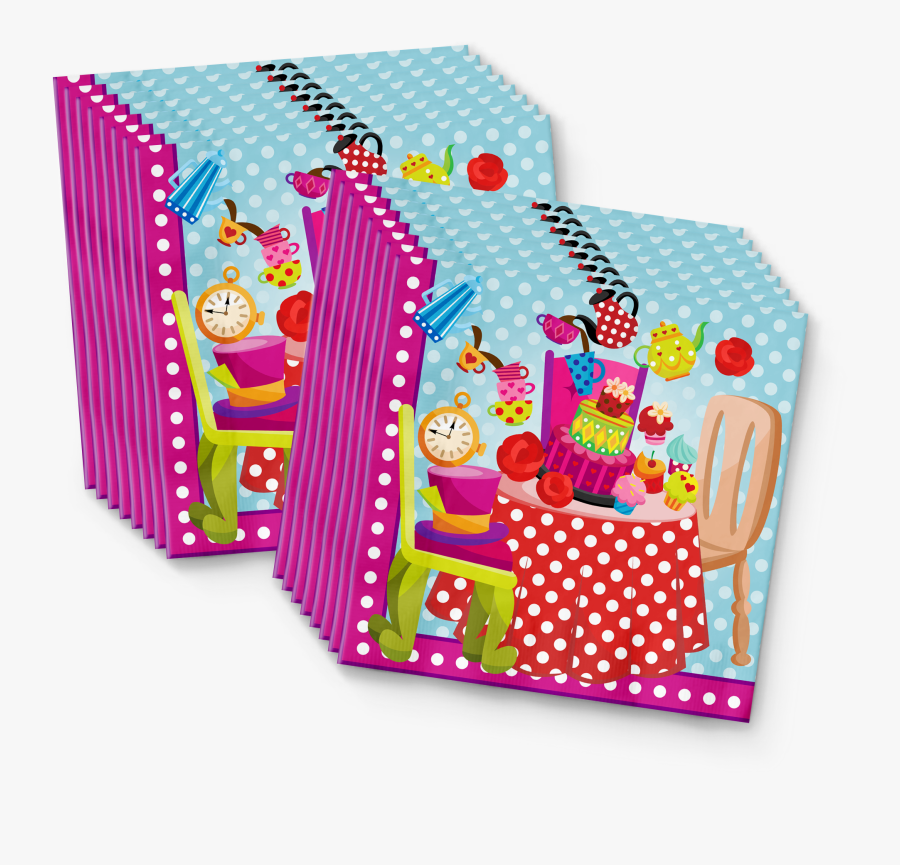 The Mad Hatter Tea Party Birthday Party Tableware Kit - Party Favor, Transparent Clipart