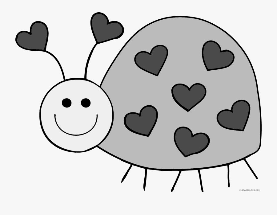 Cute Bug Animal Free Black White Clipart Images Clipartblack - Clip Art Love Bug, Transparent Clipart