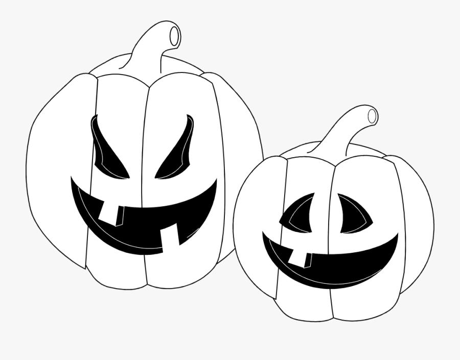 Jpg Library Download Jack O Lanterns Free - Jack O Lanterns Black And White, Transparent Clipart