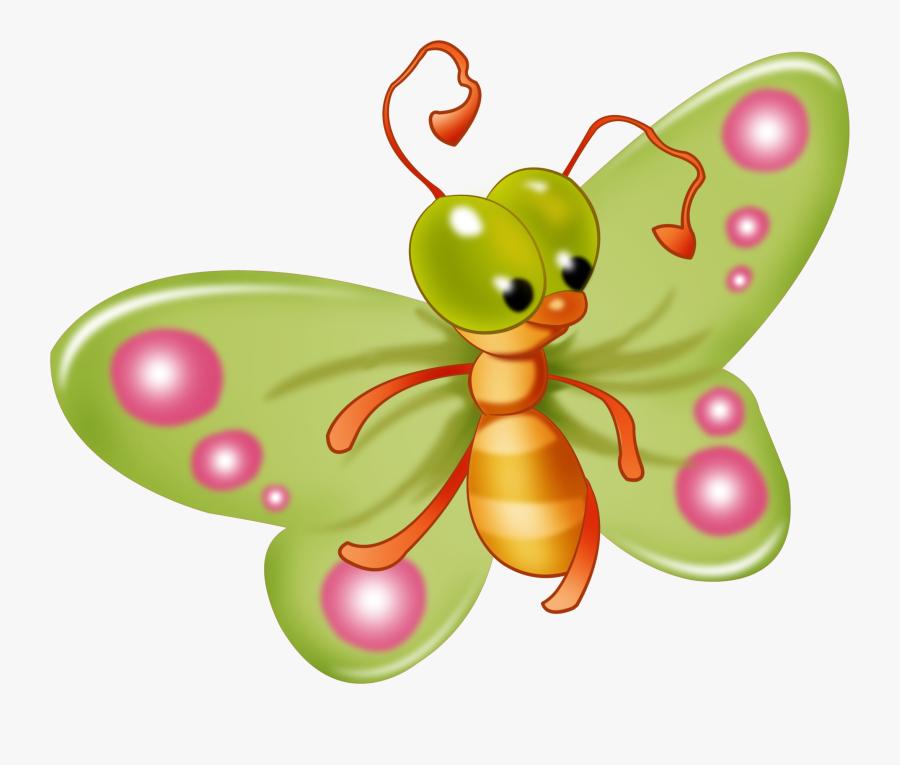 Bug Clip Art Transparent Background - Transparent Background Butterfly Clip Art Cute, Transparent Clipart