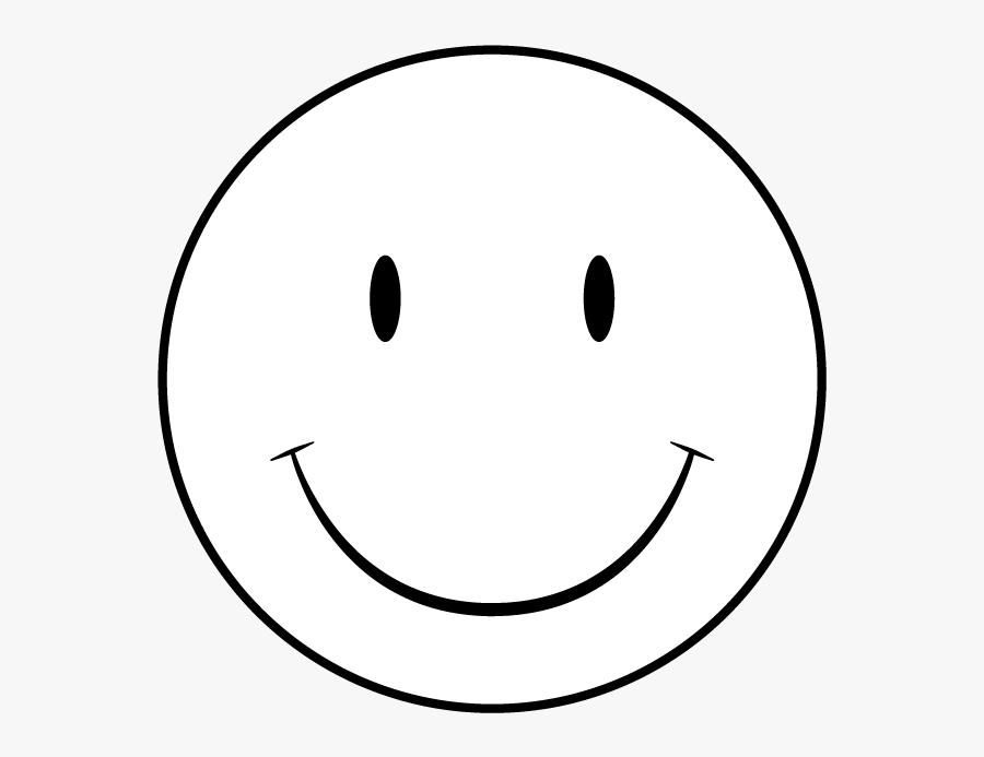 Smiley Face Clip Art Professional - Printable Happy Face Template, Transparent Clipart