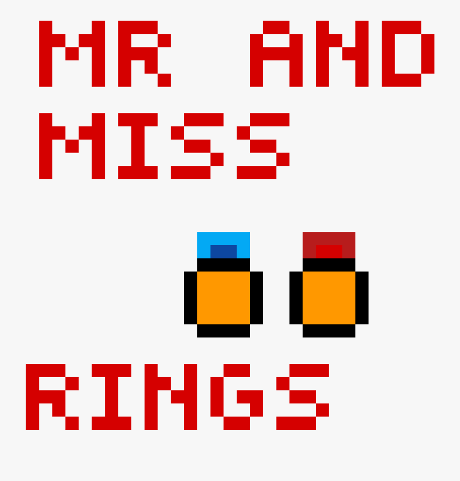 His And Her Wedding Rings Pixel Art Clipart , Png Download - Travelling Man, Transparent Clipart