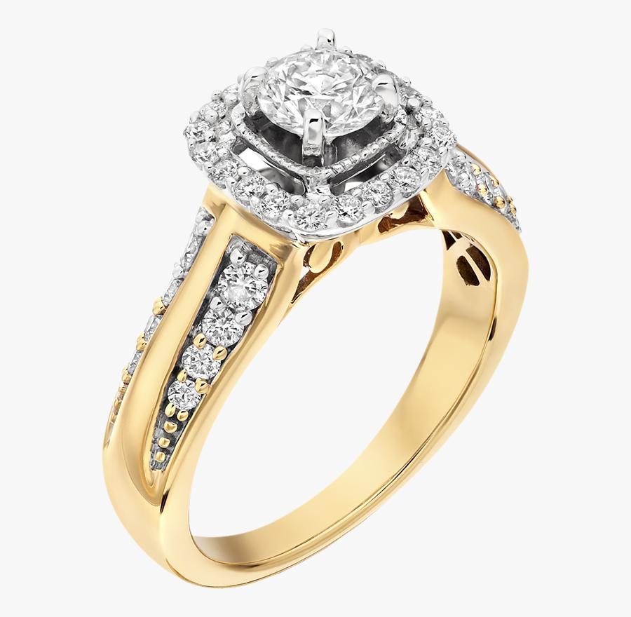 Transparent Ring Clip Art - Engagement Gold Diamond Rings, Transparent Clipart