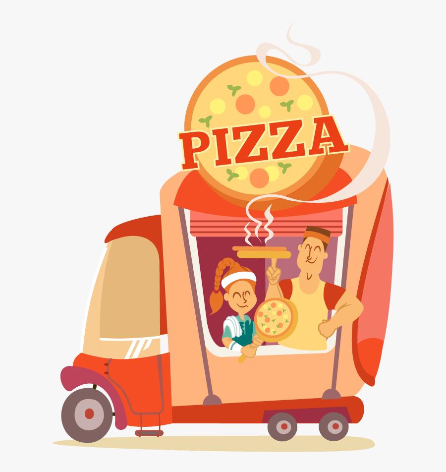 Food Truck Clipart Png - Food Truck Pizza Png, Transparent Clipart