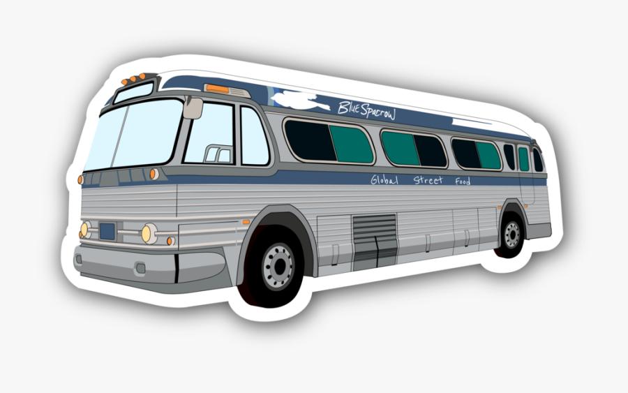 20181018 Blue Sparrow Bus Drawing Drop-01 - Tour Bus Service, Transparent Clipart