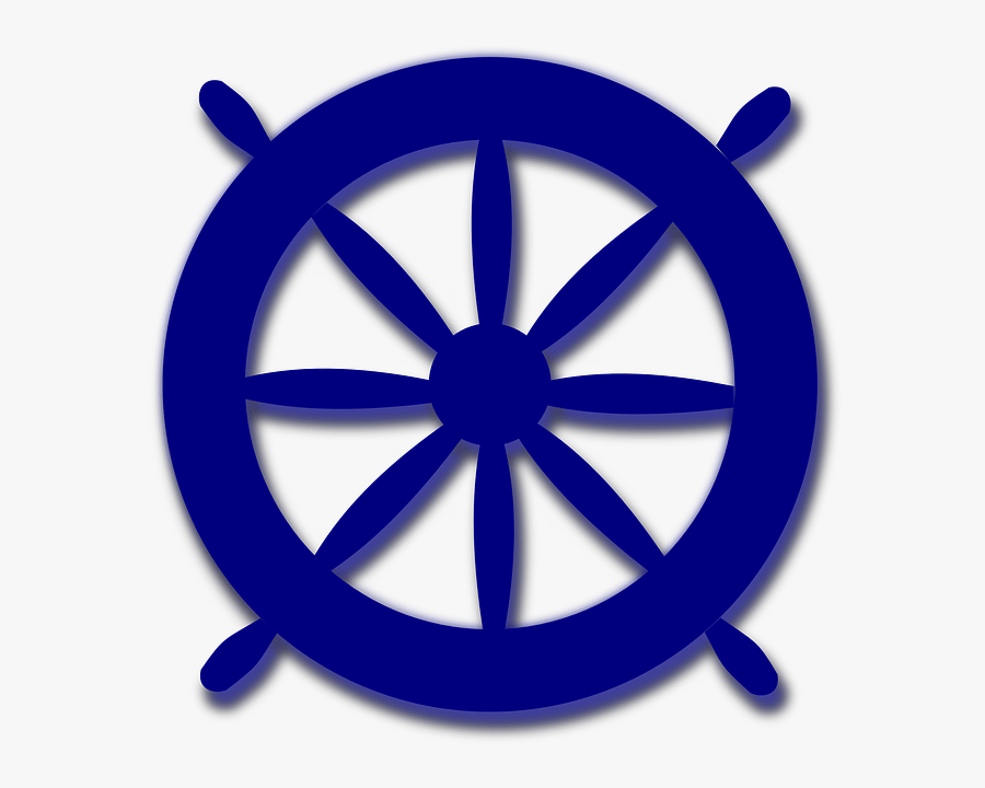 Nautical Wheel Clipart - Ship Steering Wheel Png Blue, Transparent Clipart