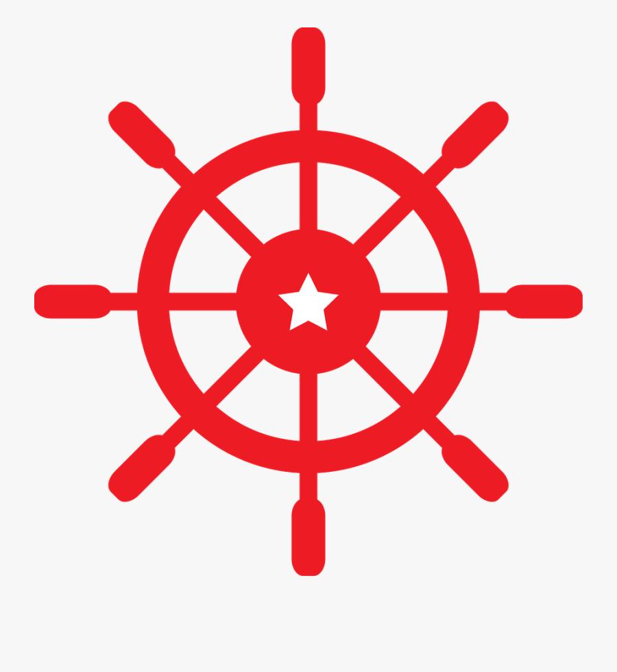 Nautical Clipart - Ship Wheel Transparent Background, Transparent Clipart