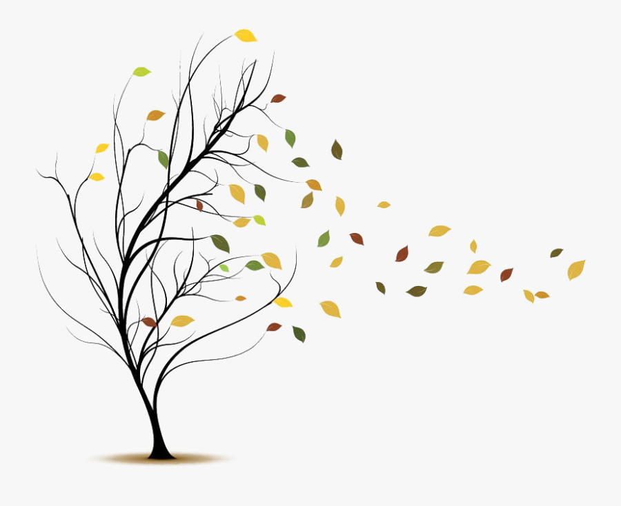 Clip Art Leaves Blowing In Wind - Blowing Leaves Clip Art, Transparent Clipart