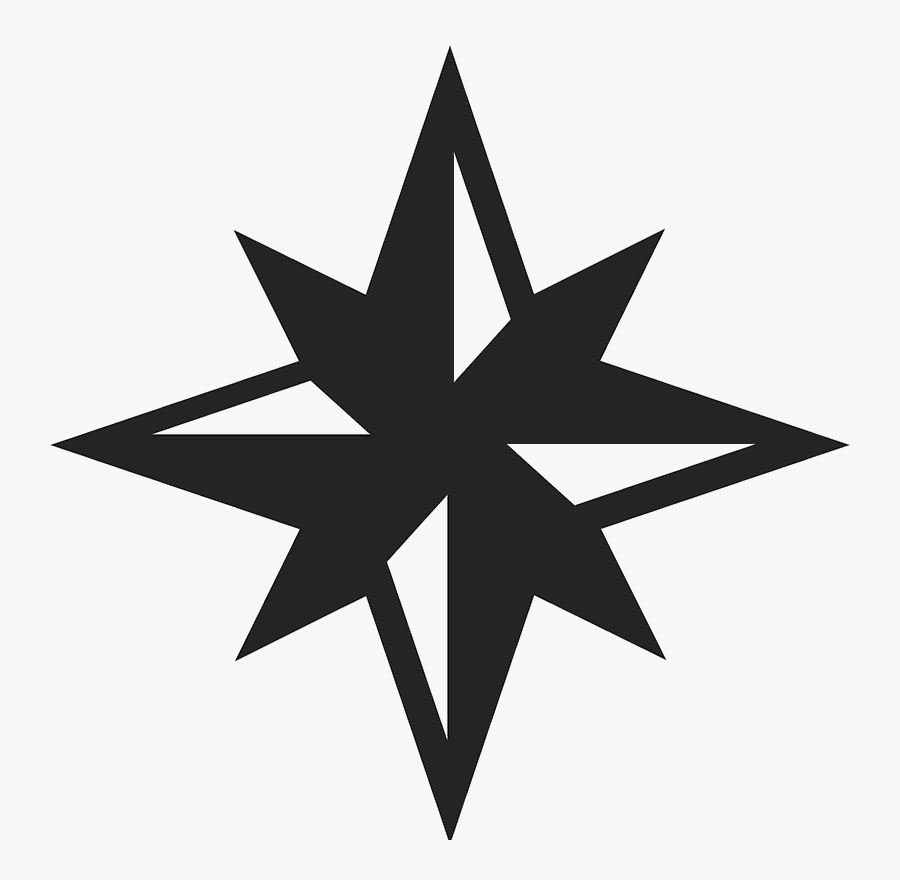 Red 8 Point Star, Transparent Clipart