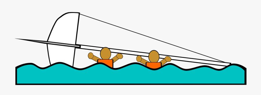Sailing Boat Capsized Free Picture - Clipart Free Sailing Capsize, Transparent Clipart