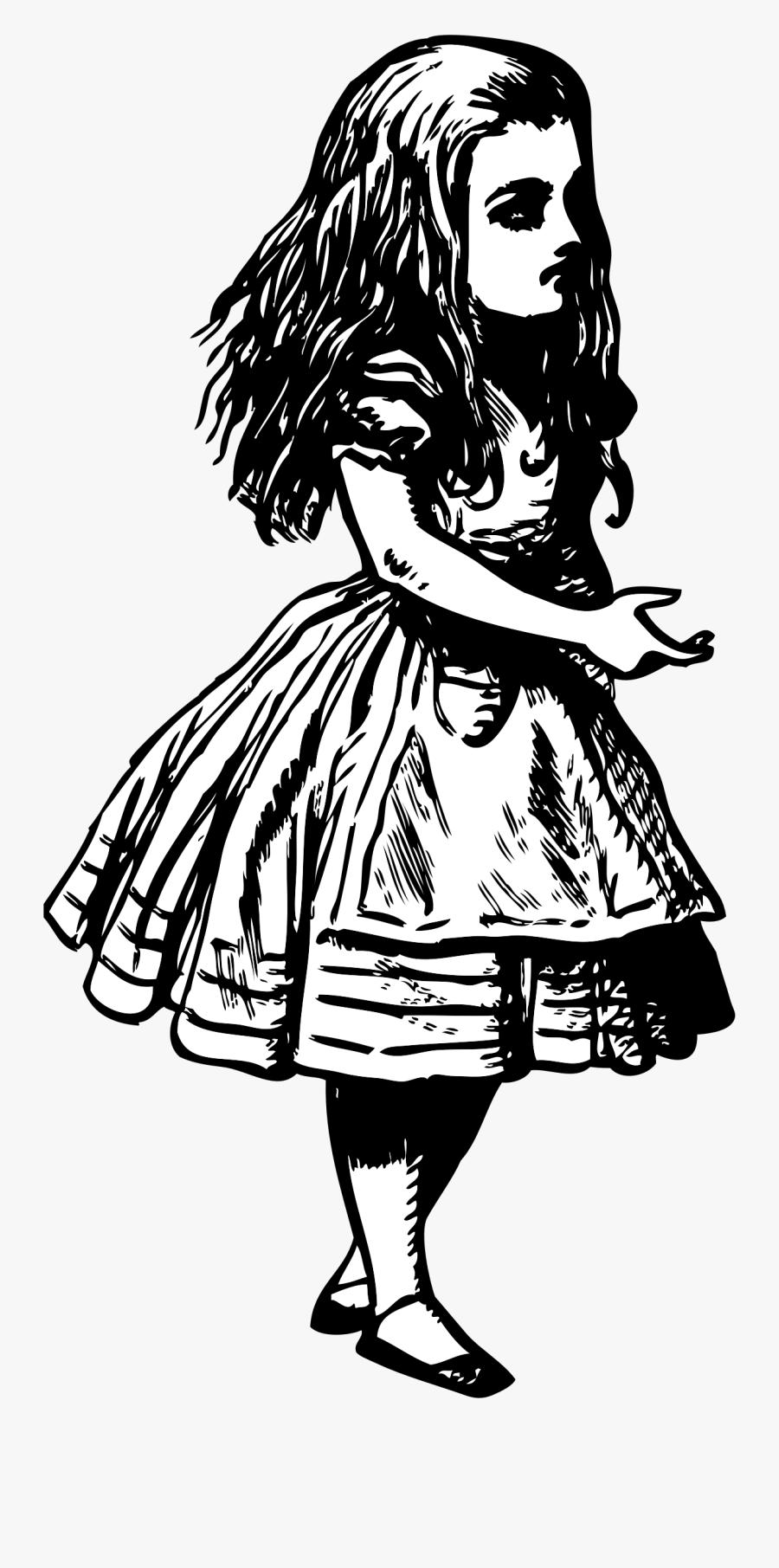 Alice - Vintage Alice In Wonderland Clipart, Transparent Clipart