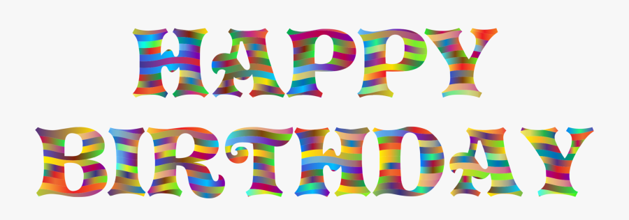 Area,text,party Supply - Happy Birthday Images Pdf, Transparent Clipart
