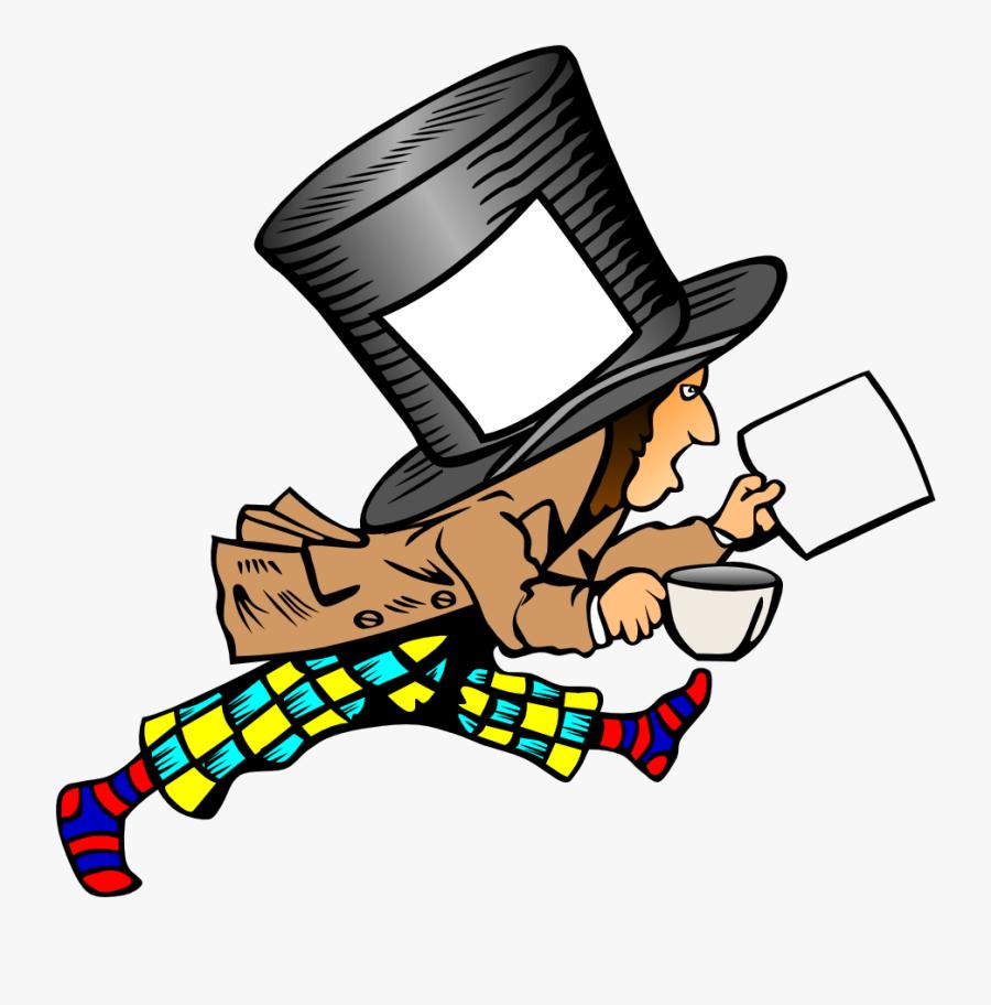 """Mad Hatter Clip Art Alice""""s Adventures In Wonderland - Mad Hatter Hat Label, Transparent Clipart"""