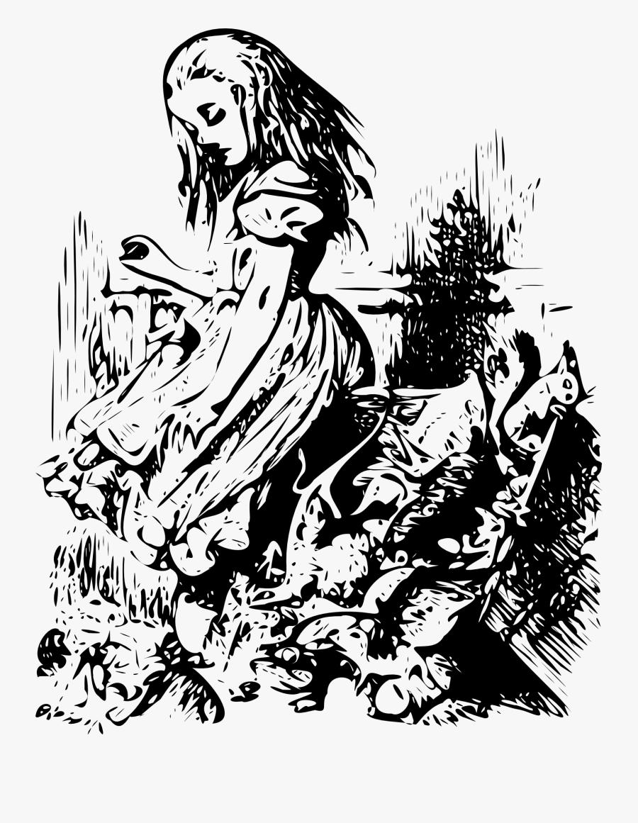 Alice In Wonderland Original Artwork, Transparent Clipart