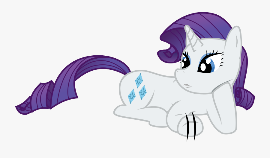 Rarity Lying Down And Waiting By Skylark-torch - Rarity Laying Down, Transparent Clipart