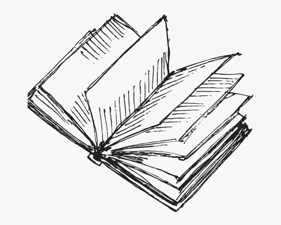 Transparent Books Drawing Png - Book Drawing, Transparent Clipart