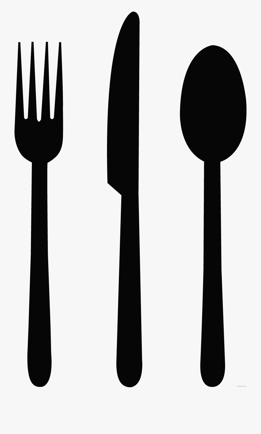 Knife Cutlery Fork Spoon Clip Art - Silhouette Fork And Knife Png, Transparent Clipart