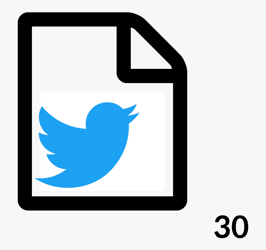 30 Twitter Posts Month 12 Months - Logo Of Social Media Collage, Transparent Clipart