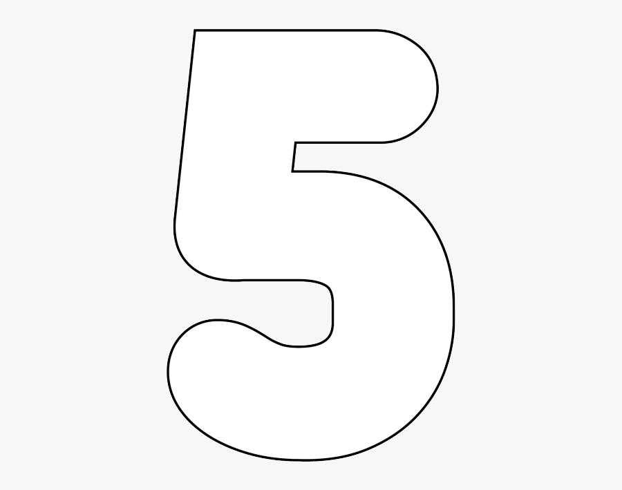 Number 5 Bubble Letter, Transparent Clipart