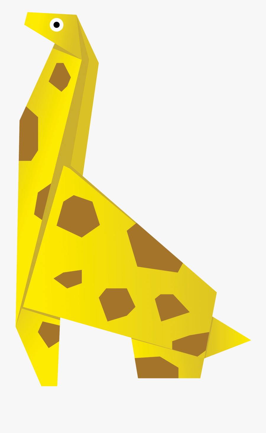 Vector Giraffe Origami - Пожелания Дизайнеру С Днем Рождения, Transparent Clipart