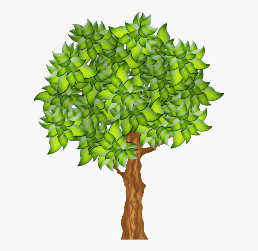 Nature Clipart Apple Tree Spring - Transparent Background Fruit Tree Clipart, Transparent Clipart