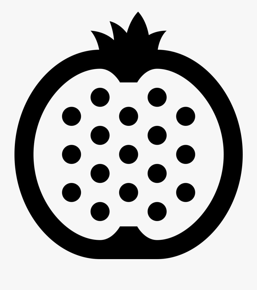 Pomegranate Clipart Slice - Circle, Transparent Clipart