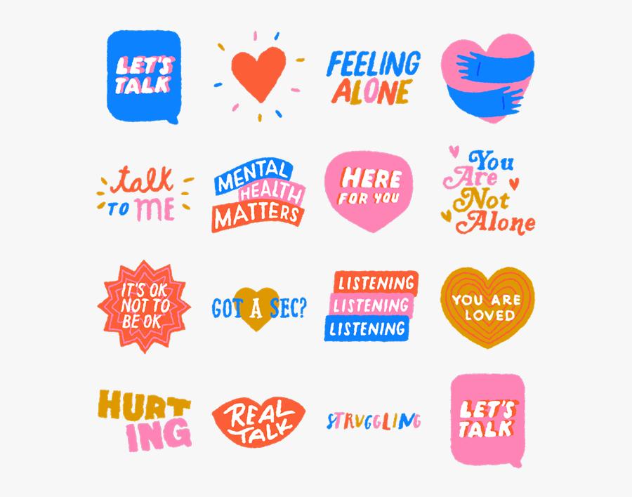 World Mental Health Day Sticker, Transparent Clipart