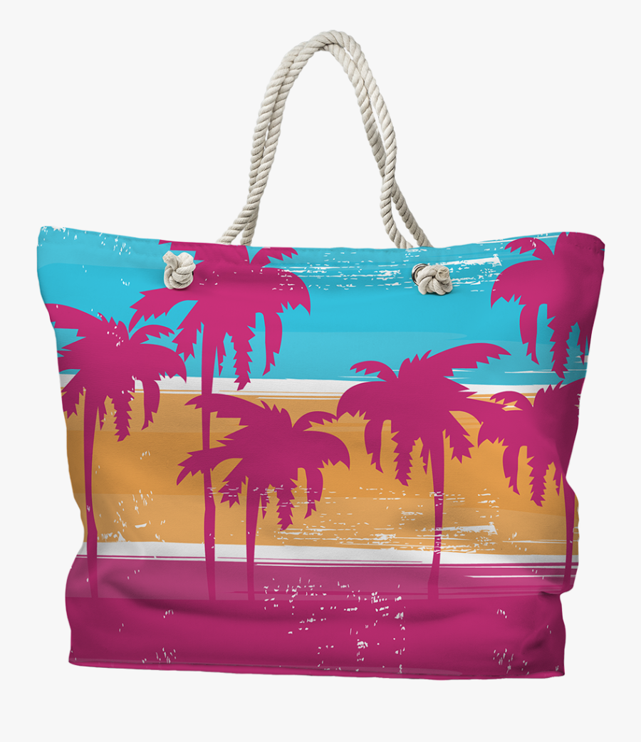 Palm Trees Tote Bag Nautical Tote Bags, Burlap Projects, - Tote Bag, Transparent Clipart