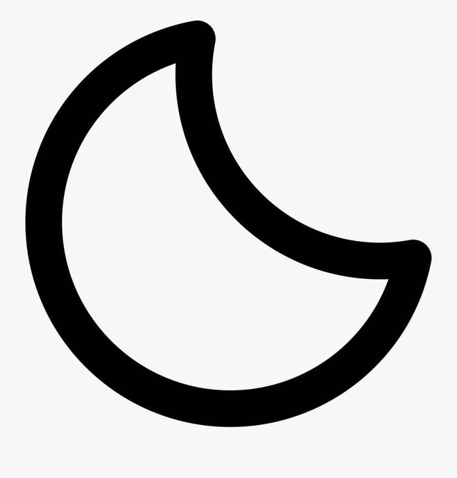 Cresent Moon Png - Contorno De Una Luna, Transparent Clipart