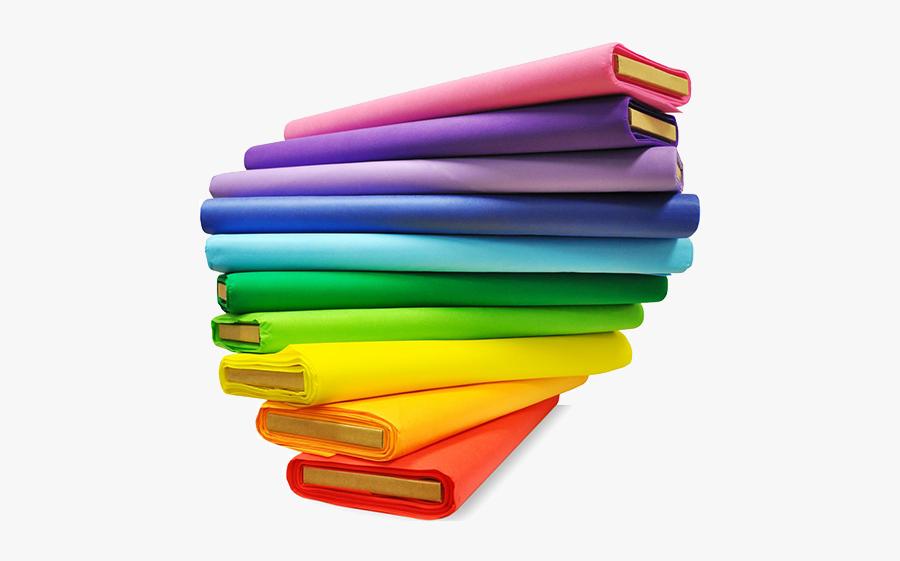 Textile Machines Clip Art - Plain Colourful Fabrics, Transparent Clipart