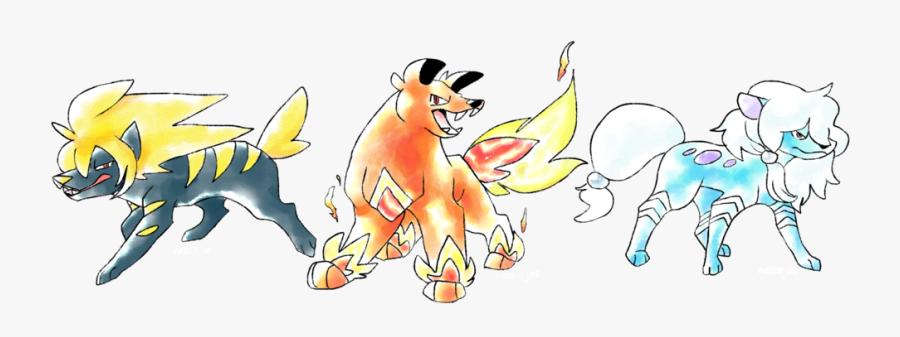 Pokemon Beta Legendary Dogs, Transparent Clipart