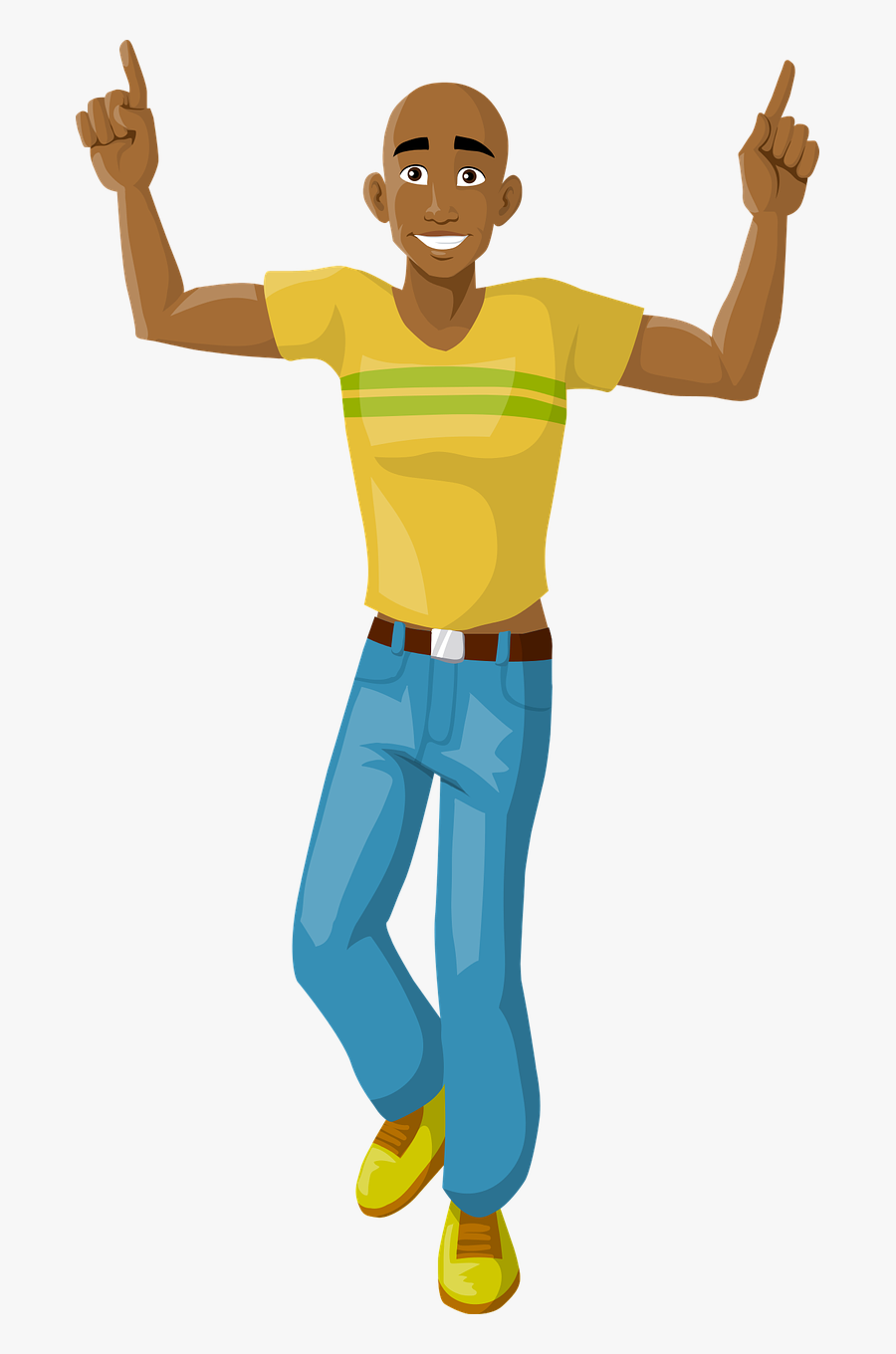 Happy Man Dancing Free Photo - Igbo Parts Of The Body, Transparent Clipart