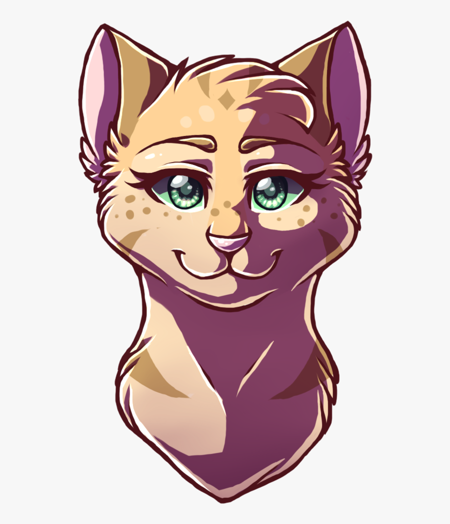 Drawn Cat Headshot - Warrior Cat Drawings Head, Transparent Clipart