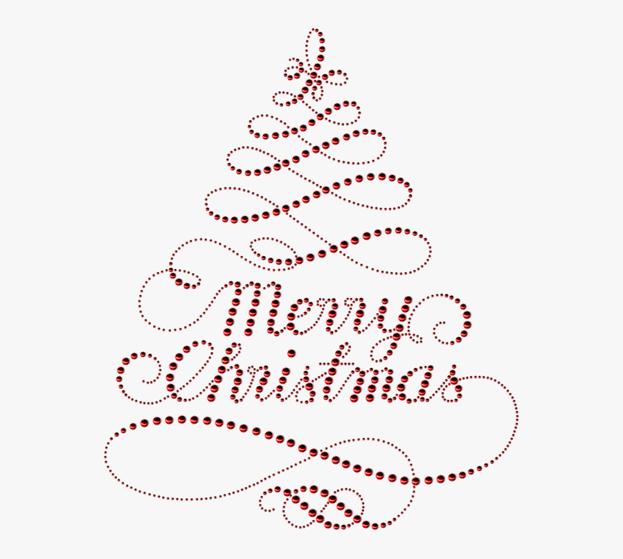 Merry Christmas Tree Png, Transparent Clipart