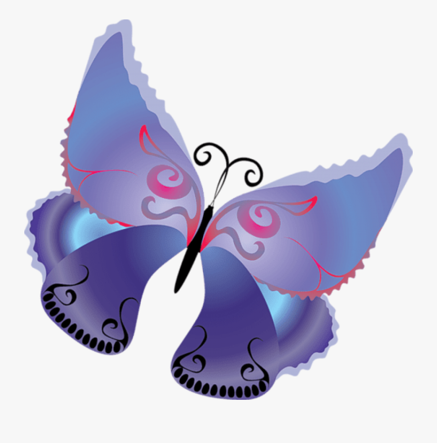 Cartoon Purple Butterfly Png - Butterfly Clipart Butterfly Transparent Background, Transparent Clipart