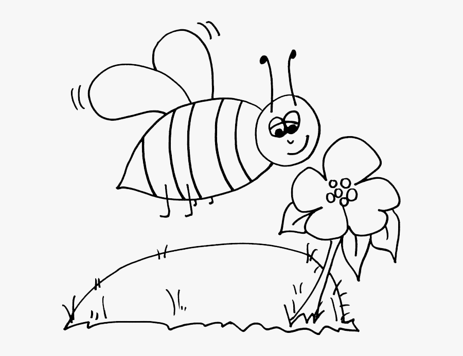 Bumblebee Coloring Page - B For Bumble Bee Colouring Pages, Transparent Clipart