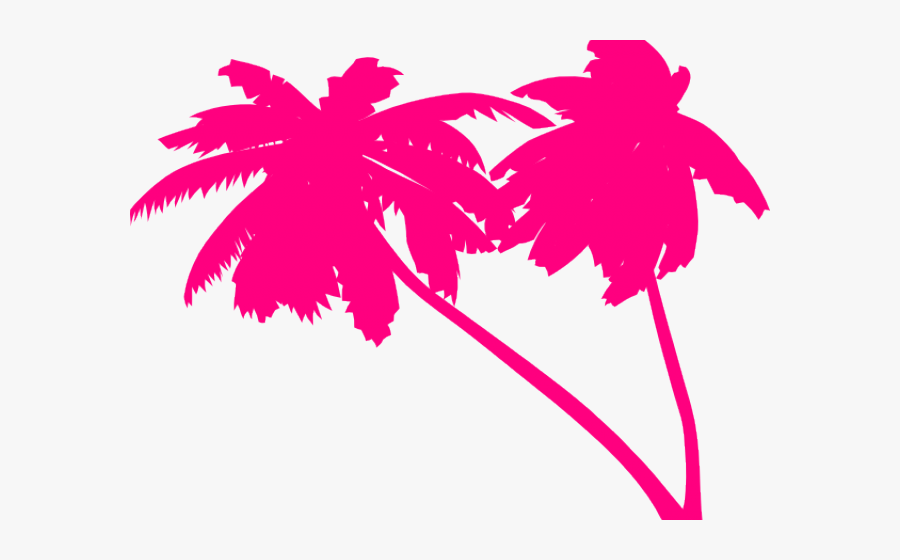 Palm Tree Clipart Double - 80s Palm Tree Png, Transparent Clipart