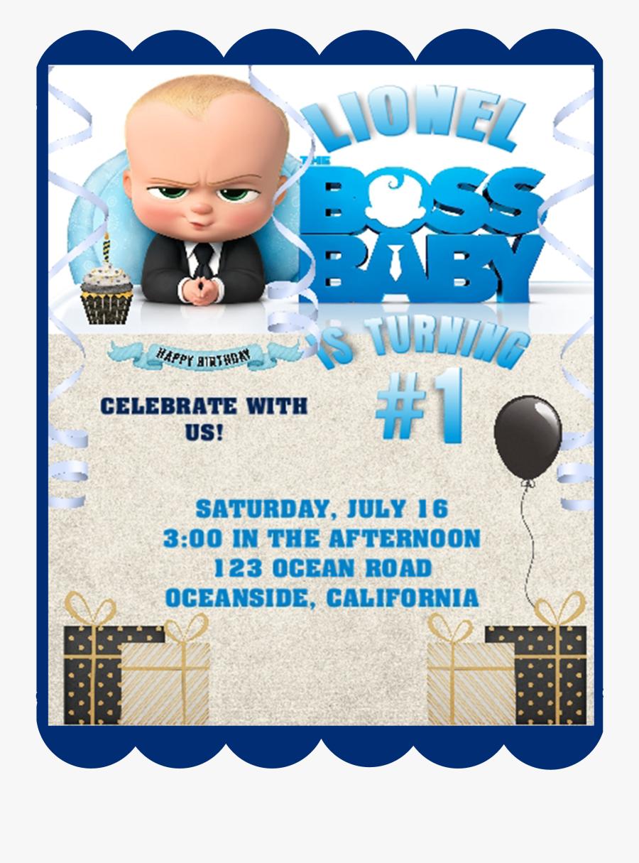 Boss Baby Birthday Invitation Template , Free Transparent Clipart
