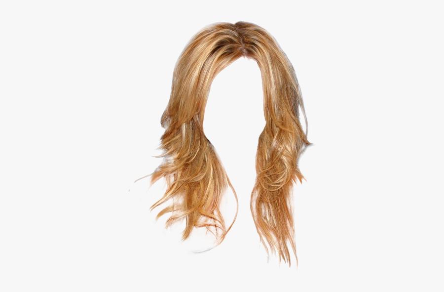 Clip Art Long Wavy Casual - Lace Wig, Transparent Clipart