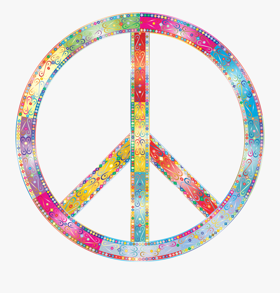 Cool Image Of Peace Sign Clip Art With Flower From - Peace Signs Transparent Background, Transparent Clipart