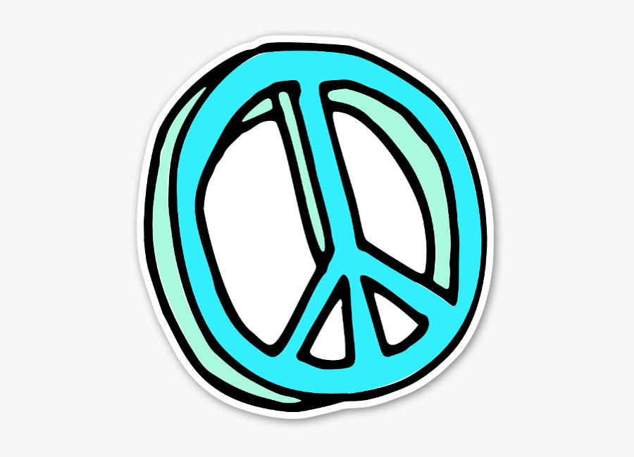 Handdrawn Peace Sign Sticker, Put Is On A Car Or A - Png Peace Sign Hand Drawn, Transparent Clipart