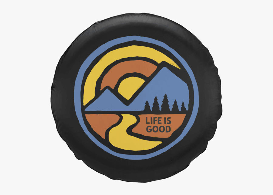 Color Block Mountains Tire Cover - Life Is Good Tire Cover Mountains, Transparent Clipart
