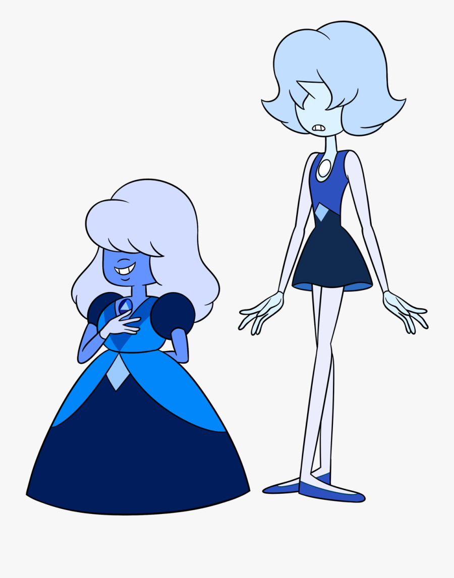 A Sapphire With Her Pearl~ - Steven Universe Homeworld Sapphire, Transparent Clipart