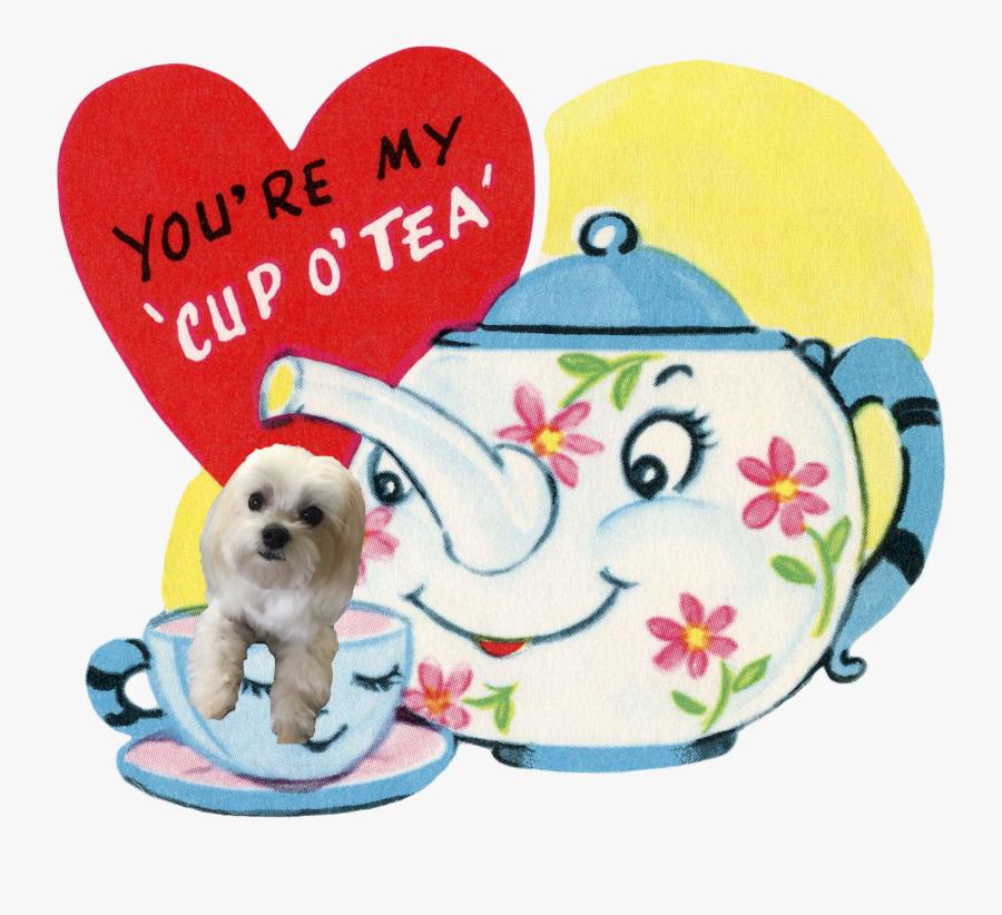 "Retro Vintage Valentine""s Ruby Lane - Mothers Day Tea Clipart, Transparent Clipart"