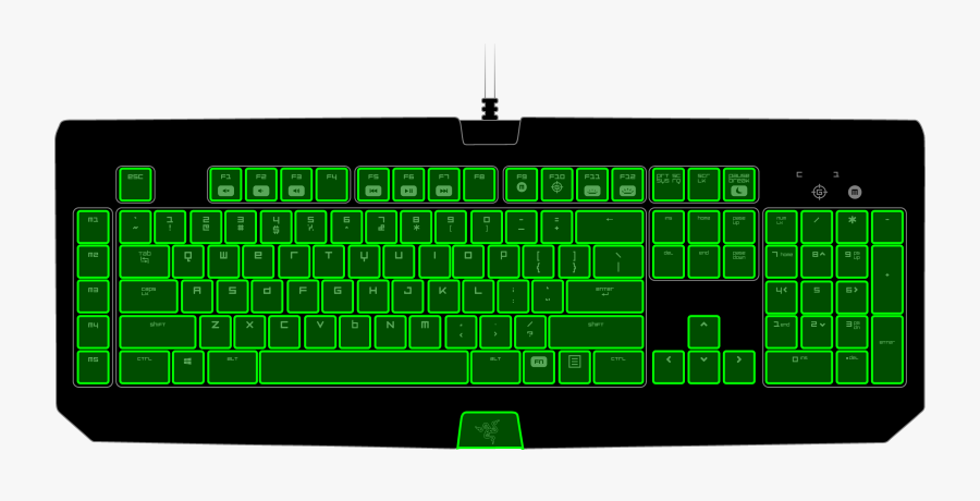 Clip Art Razer Chroma Led Profiles - Razer Kraken Keyboard Layout, Transparent Clipart