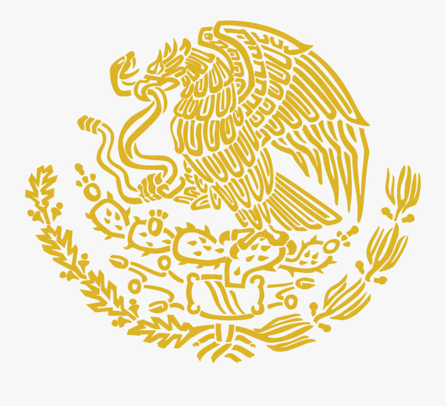 Gold Mexican Coat Of Arms, Transparent Clipart