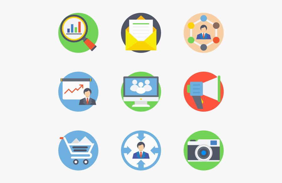 digital marketing vector icons free transparent clipart clipartkey digital marketing vector icons free
